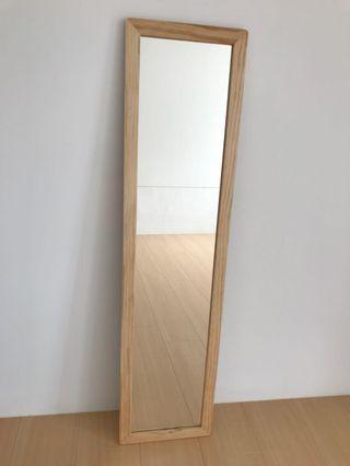 實木長壁鏡 長鏡 穿衣鏡30x125cm 剛買不久 台北市信義區自取