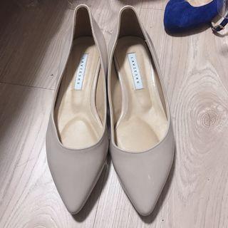 正韓 超美裸色尖頭鞋 3cm高 24cm