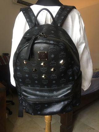 MCM Stark Studded Backpack in Black
