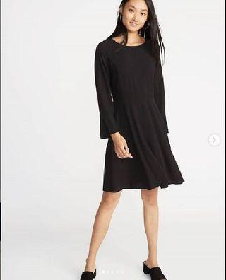 Old Navy Fit & Flare Flute-Sleeve Dress