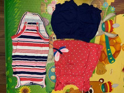 Authentic carter baby romper and one sets of clothes
