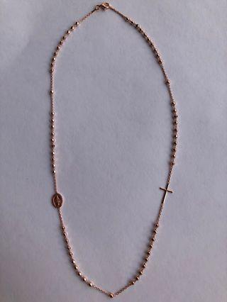 Italian Rose Gold Rosary Necklace