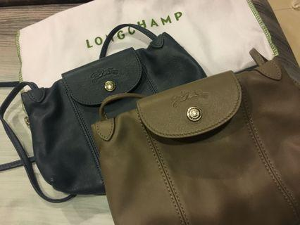 二手99新Longchamp郵差包*各一