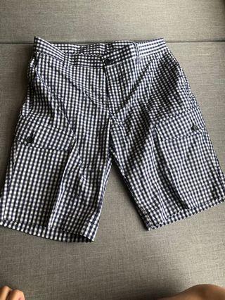 Plain me TSP1722-格紋口袋短褲