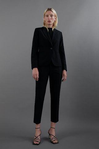 Zara Basic black work suit trousers