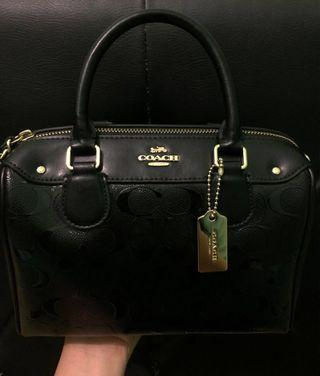 Coach Mini Bennett Embossed Black