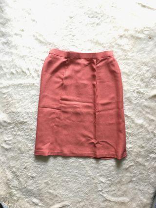 Formal Red Skirt