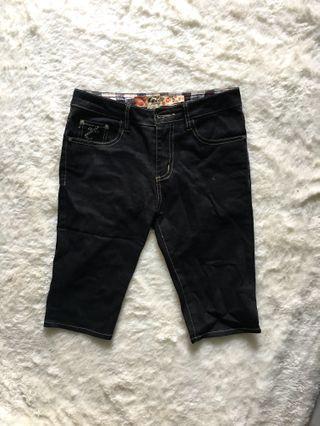 Black Jeans Short