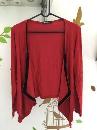 Red Formal Cardigan