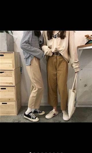 休閒長褲/寬褲/直筒褲/淺色款