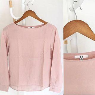 Uniqlo Pink Blouse