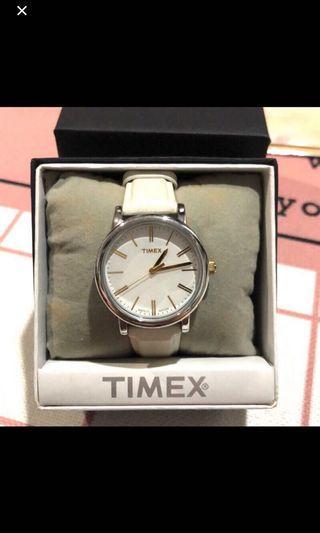 降❗️美國Timex簡約大約百搭白色女錶
