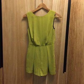 全新 Topshop蘋果綠連身褲裙