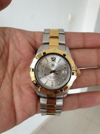 TAG Heuer Aquaracer 300M Quartz Combination Silver Gold Steel ORIGINAL