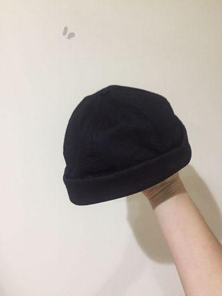 水兵帽 水手帽 黑色 軟布