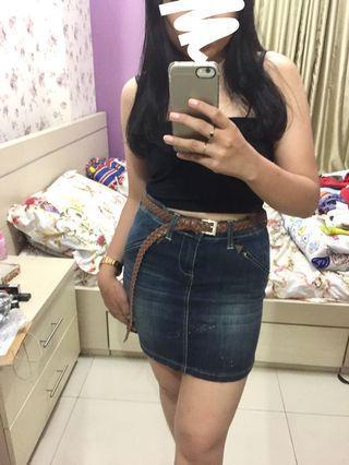 Wrangler Mini Denim Skirt