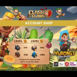 Clash of Clan Account and Clans by WukongJourney.com
