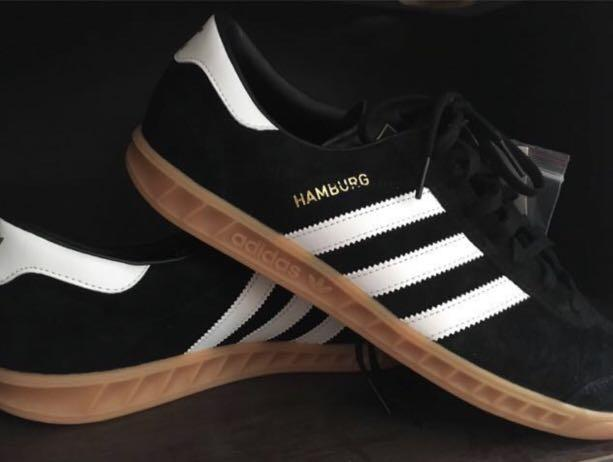 como eso Refinería estante  Adidas Hamburg Mens Trainers in Black/White/Gum new, Men's Fashion,  Footwear, Sneakers on Carousell