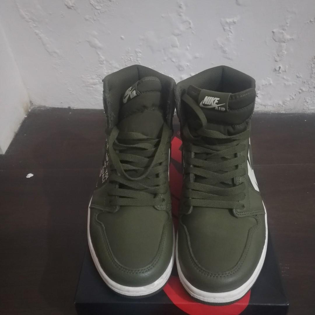 Air Jordan 1 Retro High OG Green Olive Canvas