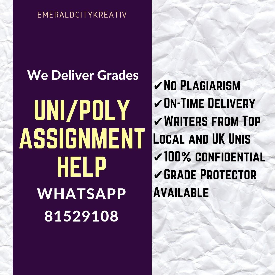 Assignment Help 📝 Uni/Poly/Diploma Essay