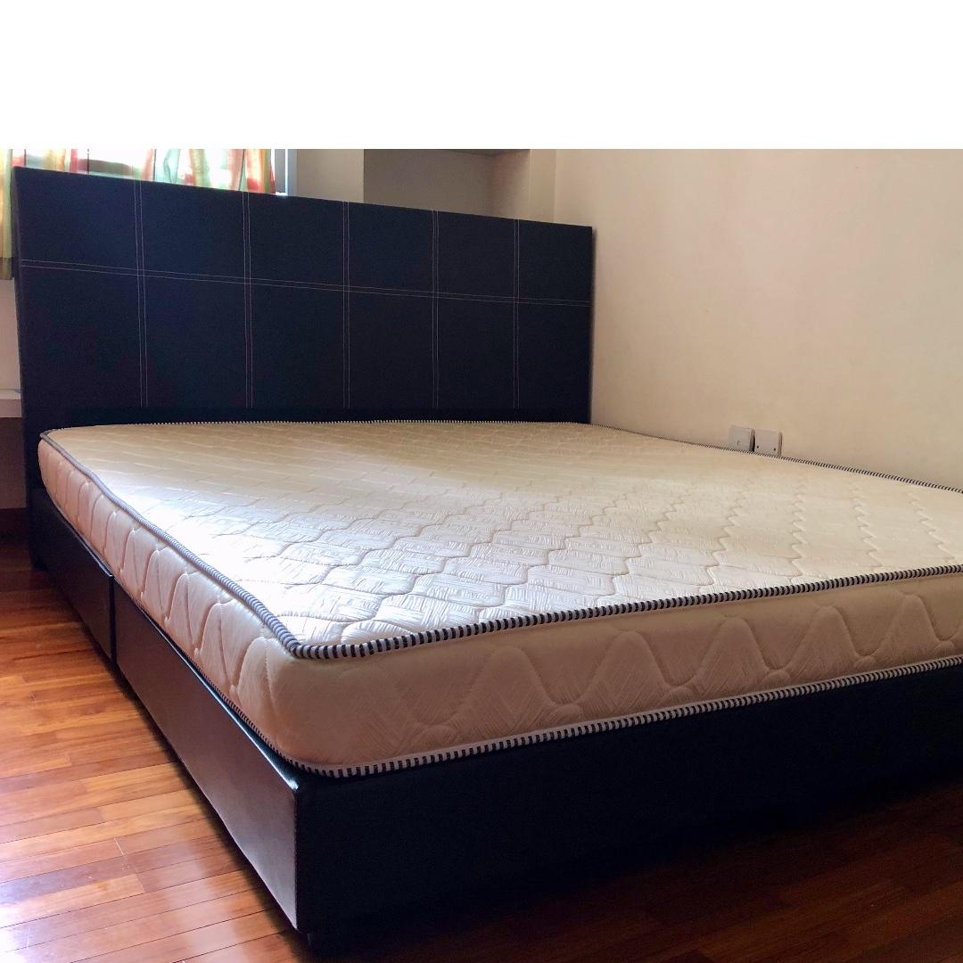 Bed and Mattress for sale, Age <1 yr, New condition