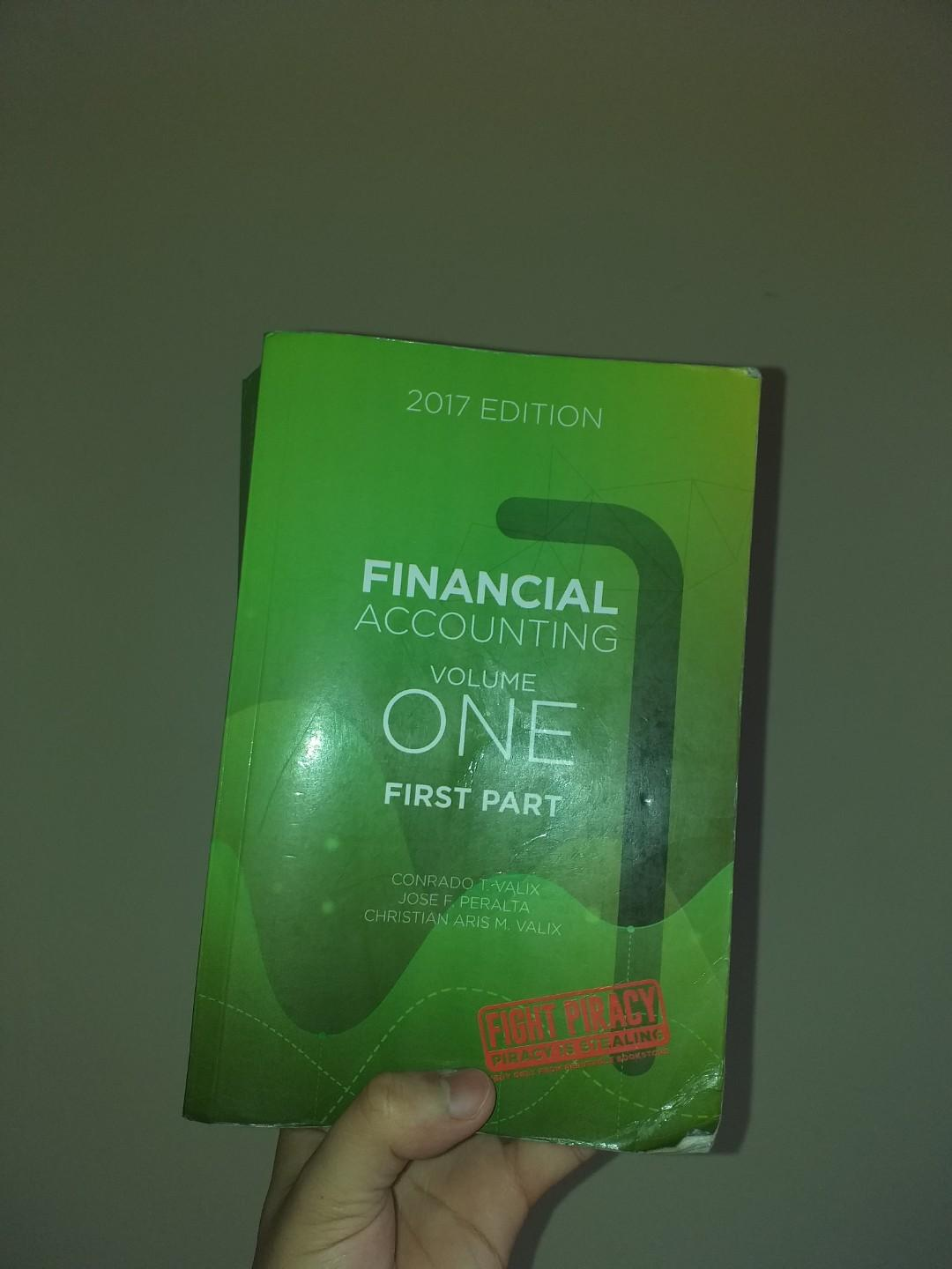 BRAND NEW ACCOUNTING BOOK FINANCIAL ACCOUNTING VOLUME 1 FIRST PART 2017 EDITION