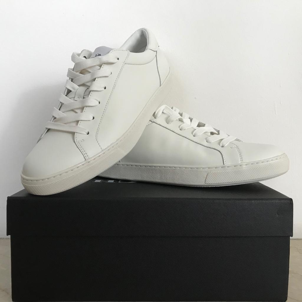 Coach White Leather Sneakers, Men's
