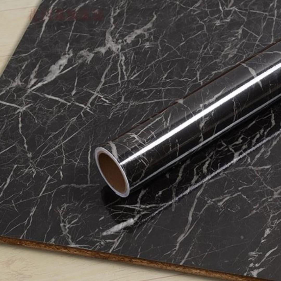 Easy To Diy Black Marble Contact Paper Wall Decor Minimalist Decal