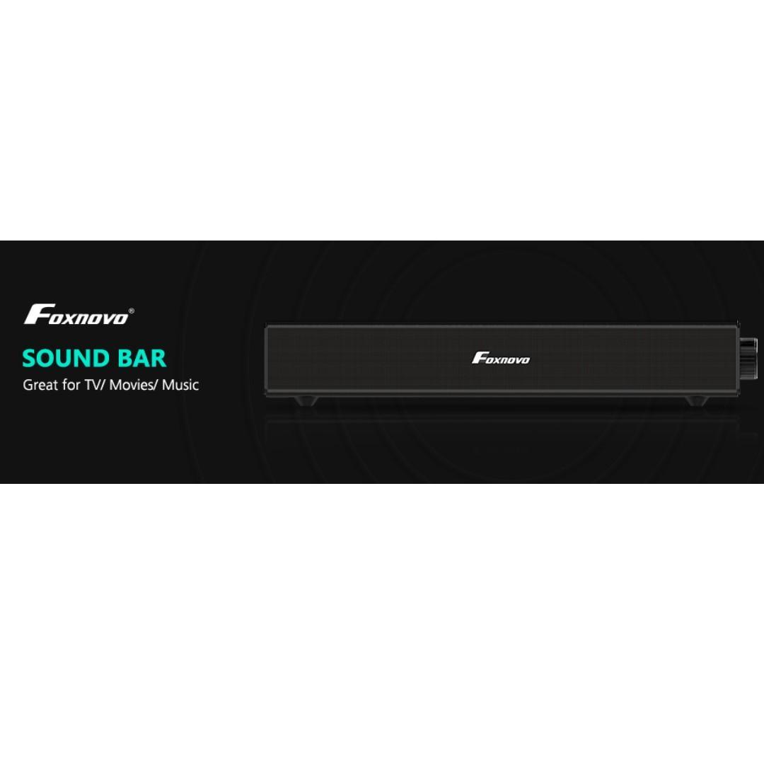 FOXNOVO 20W Smart TV Sound Bar Bluetooth Speaker Subwoofer for Home Theatre PC