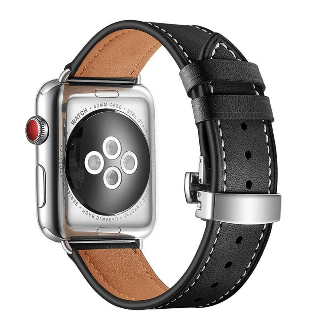 Genuine Leather Strap Band for Apple Watch (42/44mm)