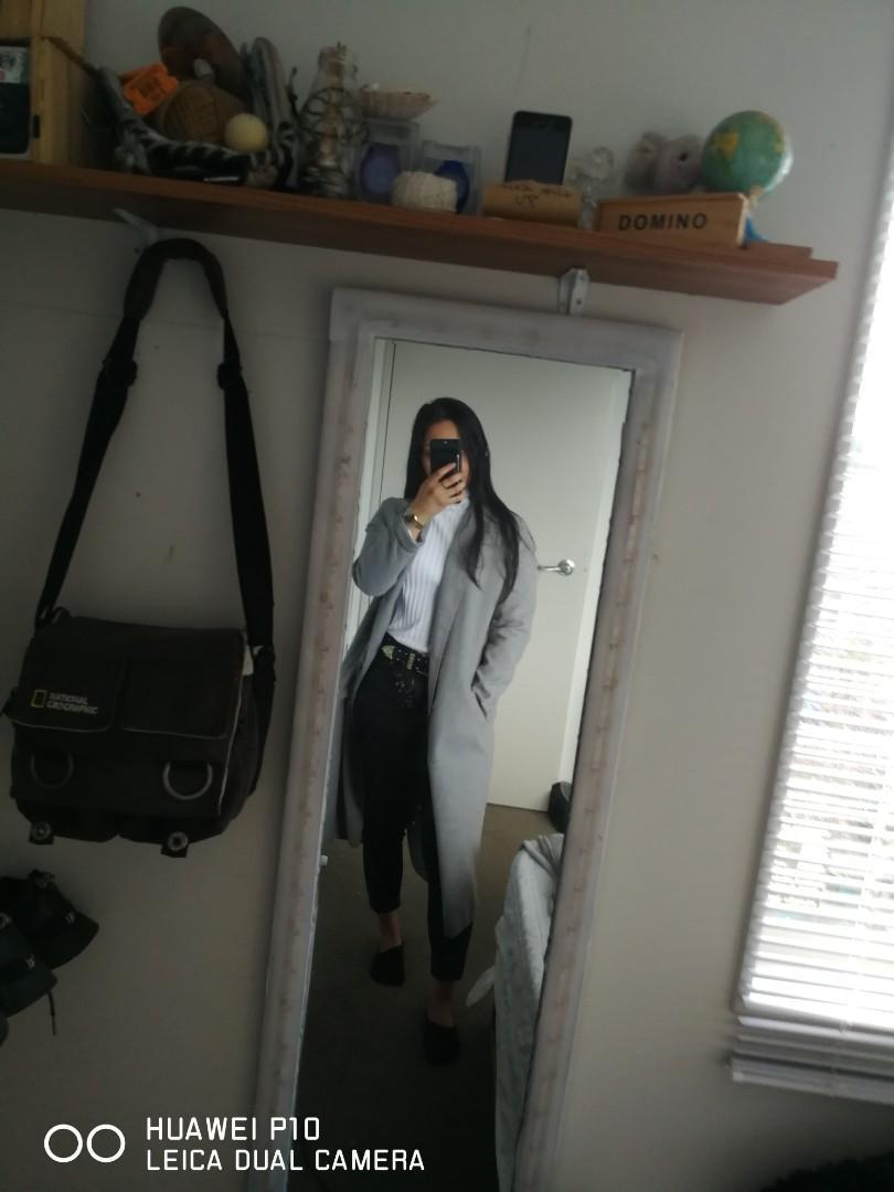 Grey Coat from Boohoo.co.nz