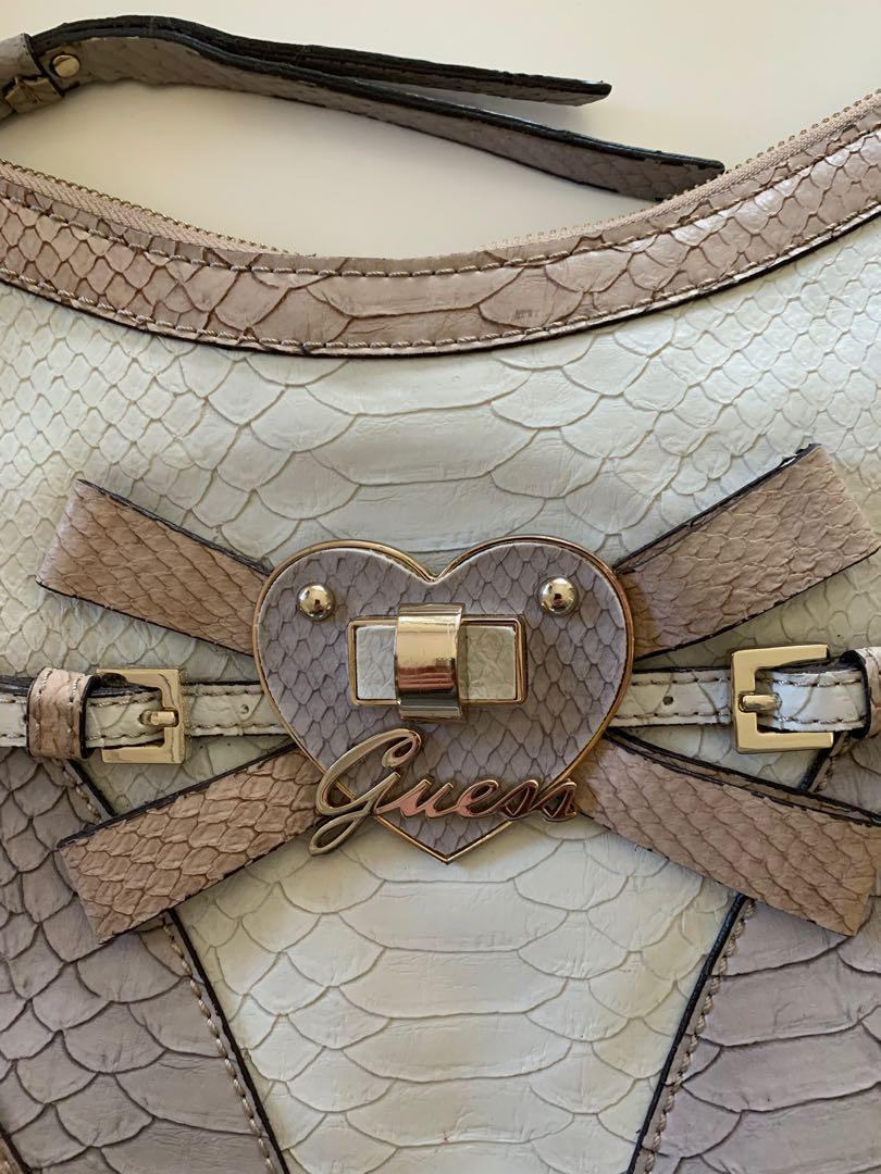 Guess Leather Handbag with Gold Hardware