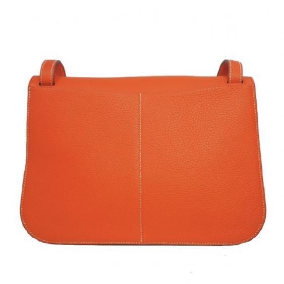 Hermes halzan 31 poppy orange authentic
