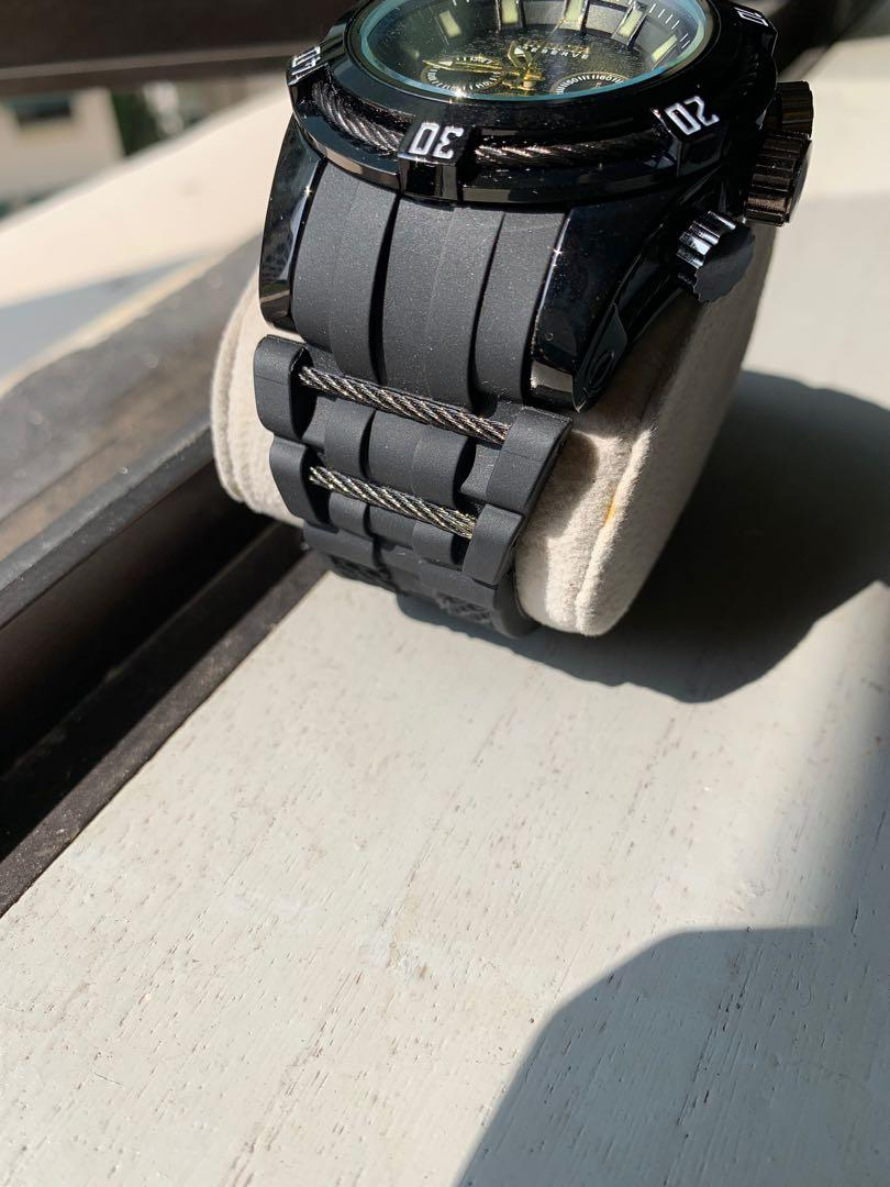 Homage Invicta 52mm rubber strap quartz