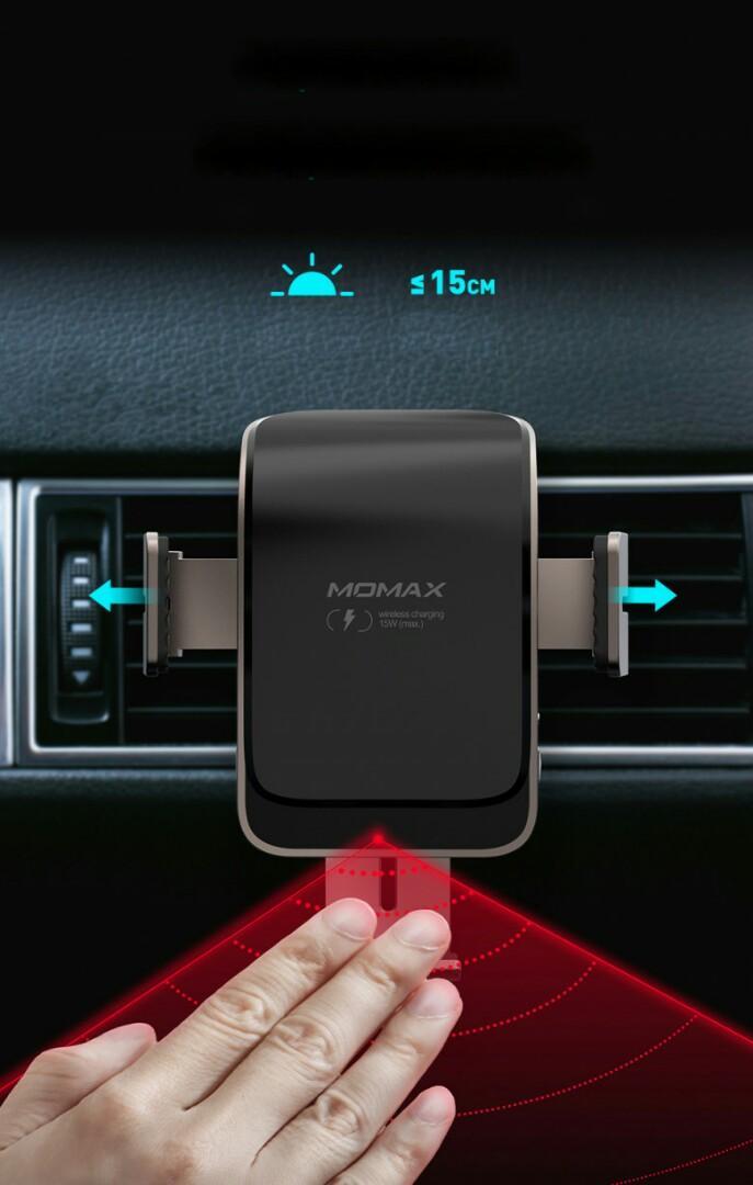 Momax CM12 Q.MountSmart2 紅外線感應無線充電支架( 香港行貨兩年保養) 黑銅色/銀色 兩色選擇