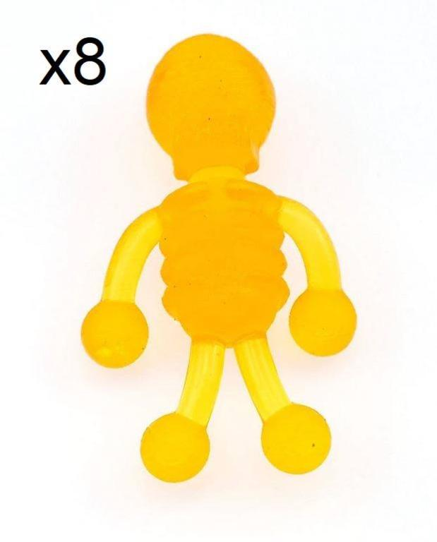 New 8x Tiny stretchy skeleton squishy stretchy toys - Orange