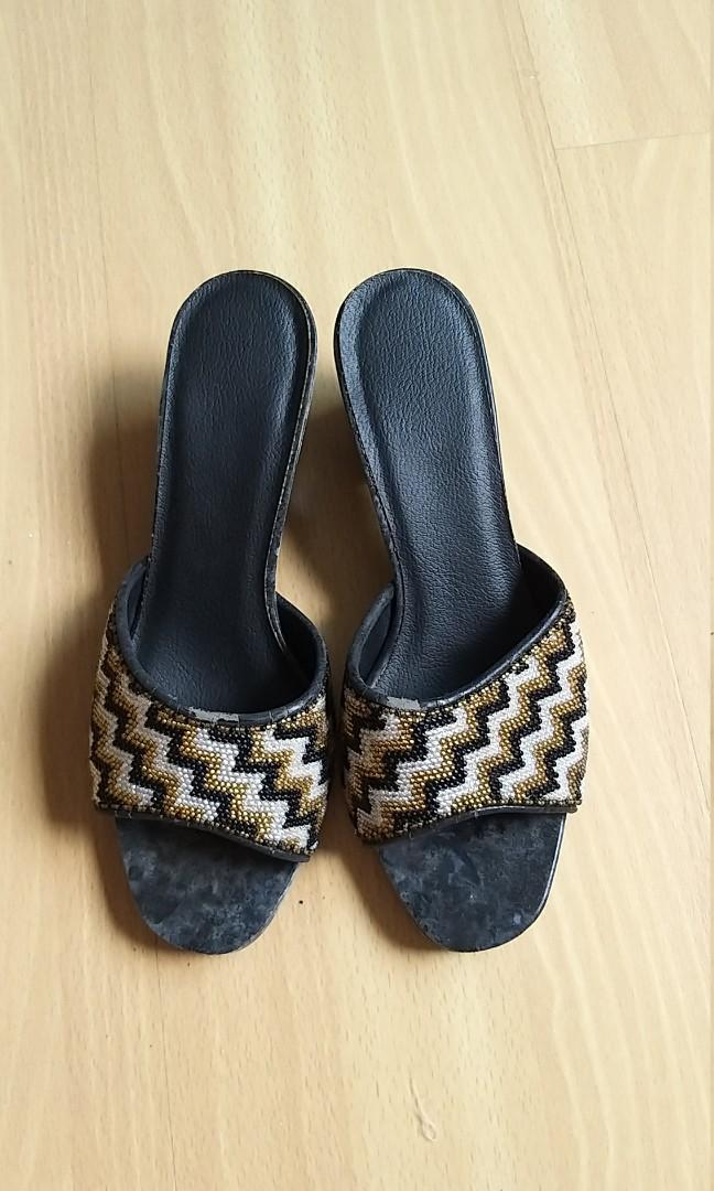 Nonya beaded Slippers/shoes/sandals sold for reuse of beads