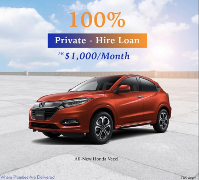 PHV LOAN 0 DOWN PAYMENT. HONDA FIT/ VEZEL/ SHUTTLE/ SIENTA ETC