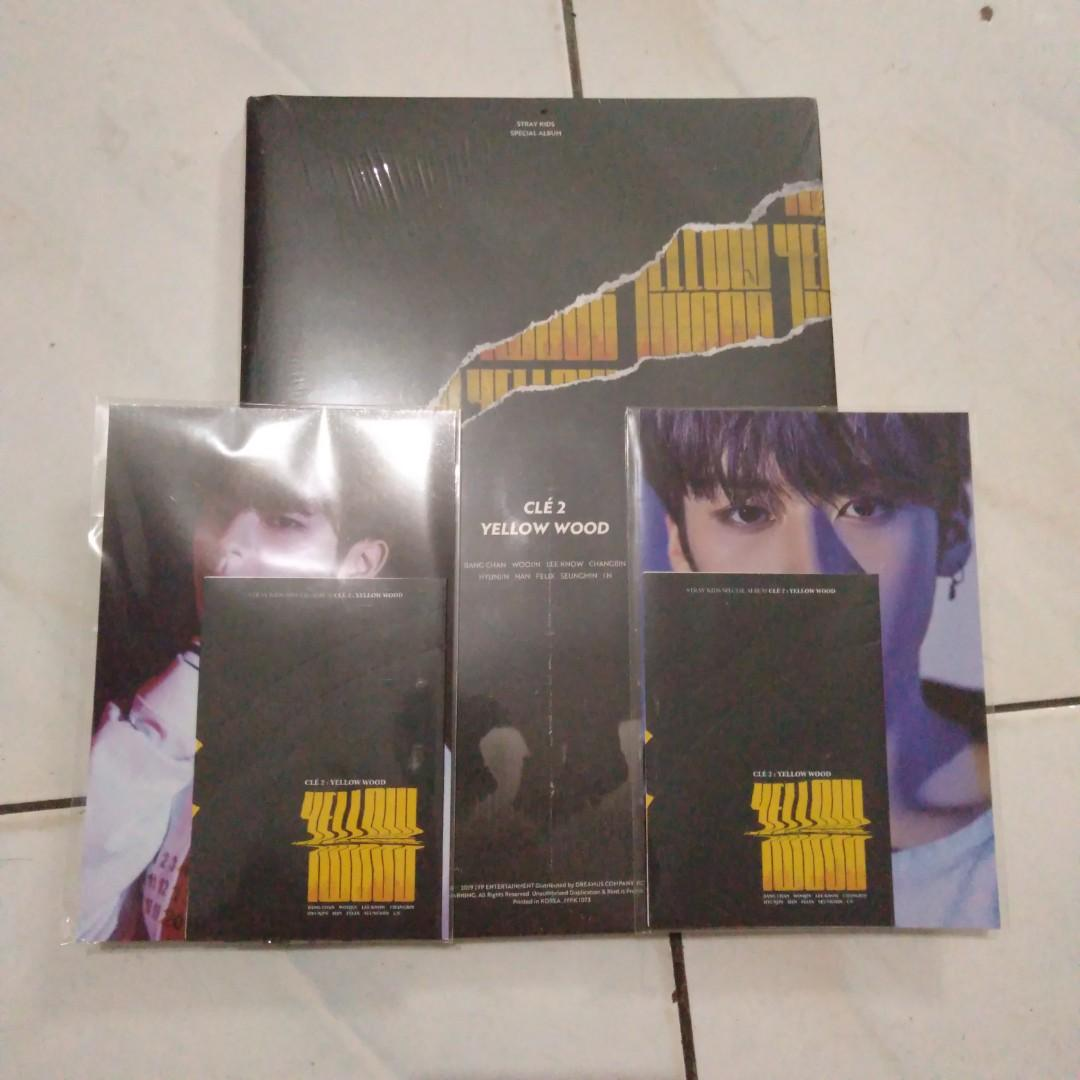 READY STOCK - ALBUM STRAY KIDS - CLE 2 : YELLOW WOOD (LIMITED VER)