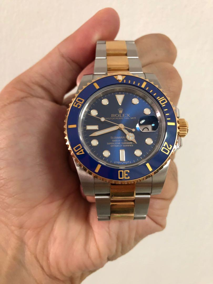 Rolex blue submariner 116613lb