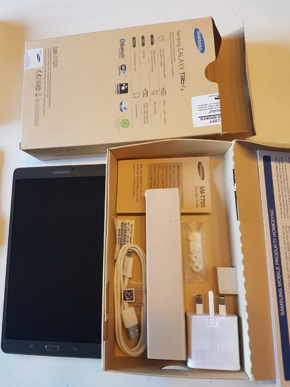 Samsung Galaxy Tab S Package. Samsung Tablet/ Samsung Keyboard/ Carry Pouch