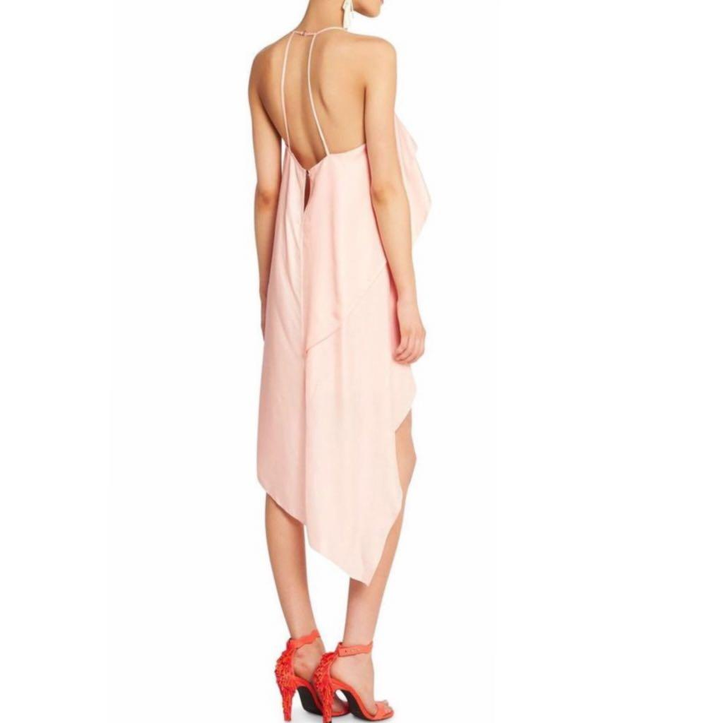 SASS AND BIDE 'the pipes' dress in pale pink/peach
