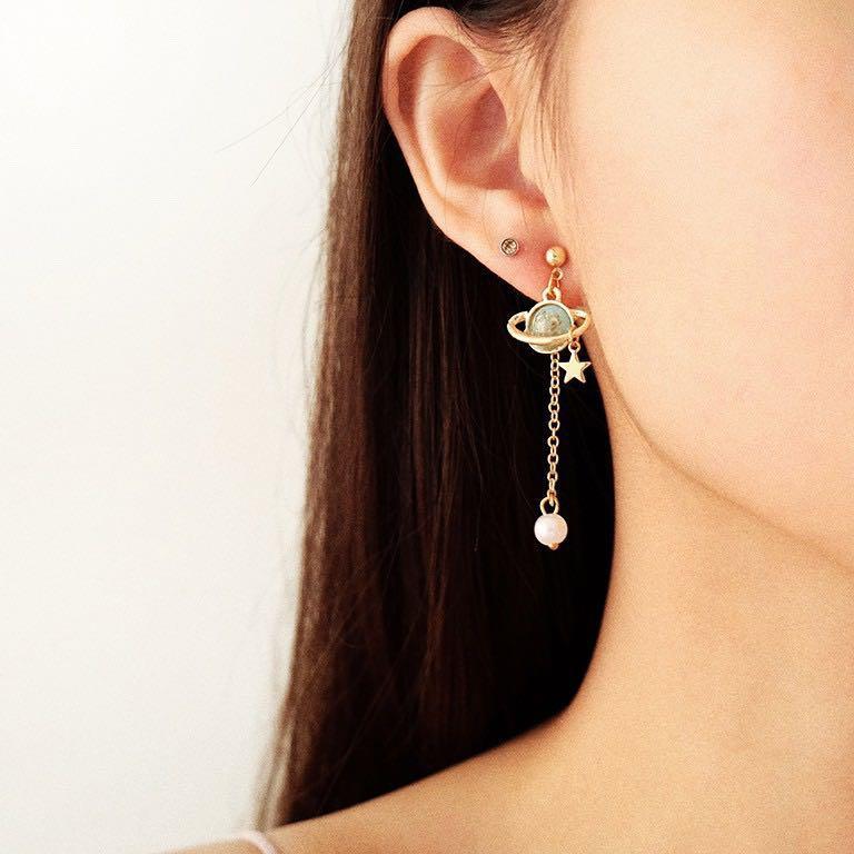#joinagustus saturnus pearl earrings