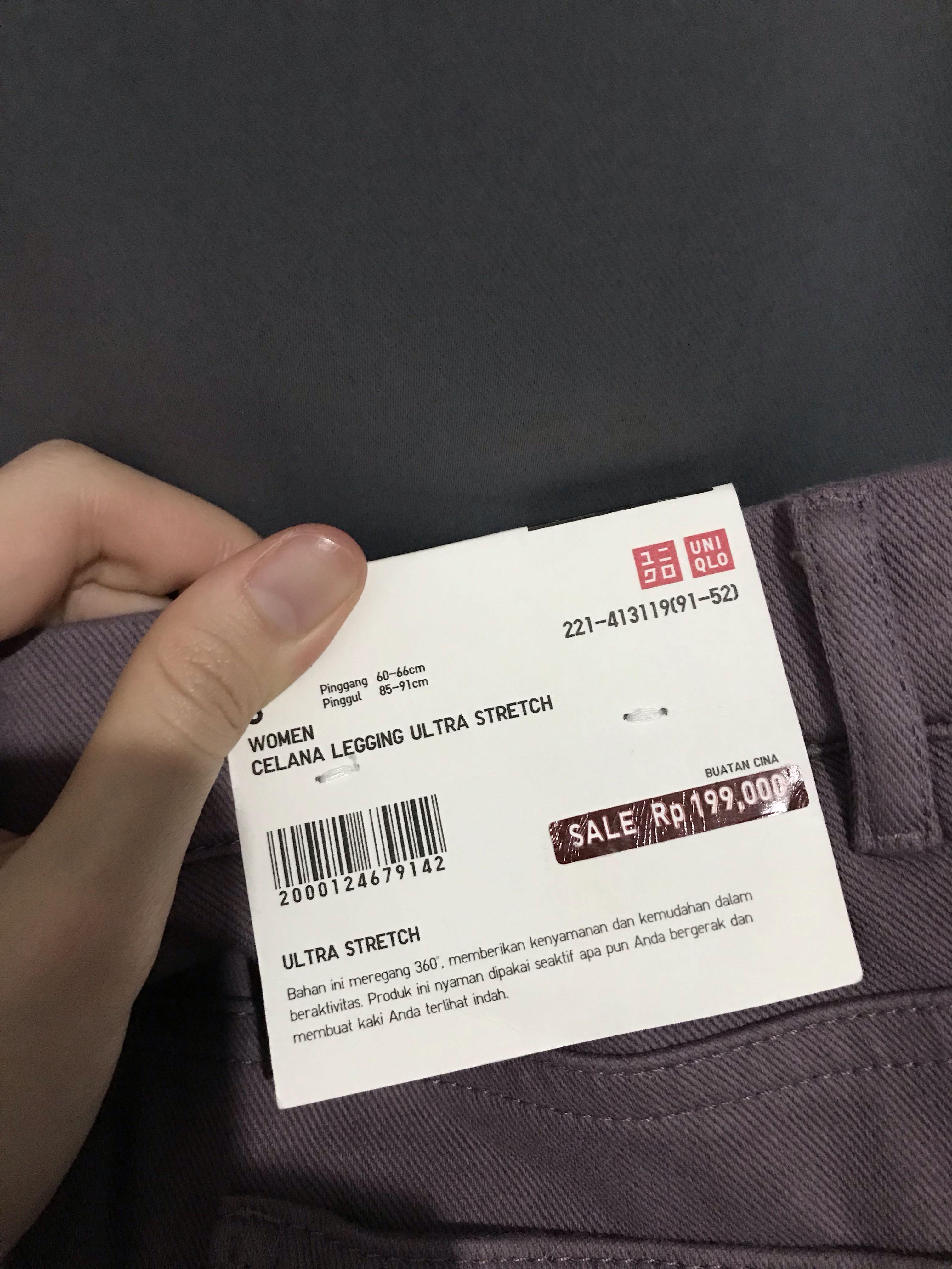 Uniqlo Leggings Ultra Stretch Semi Jeans Ungu Purple Burgundy Celana Uniqlo Fesyen Wanita Pakaian Wanita Bawahan Di Carousell