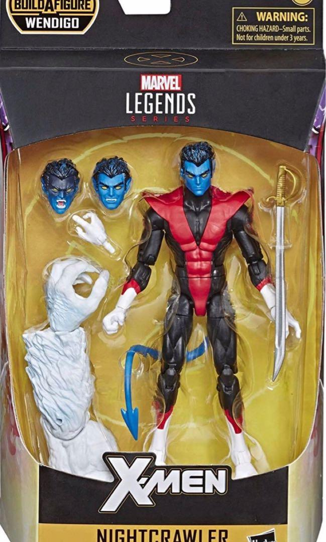 Wendigo BAF IN HAND!!!! Marvel Legends X-Force 6-Inch Nightcrawler