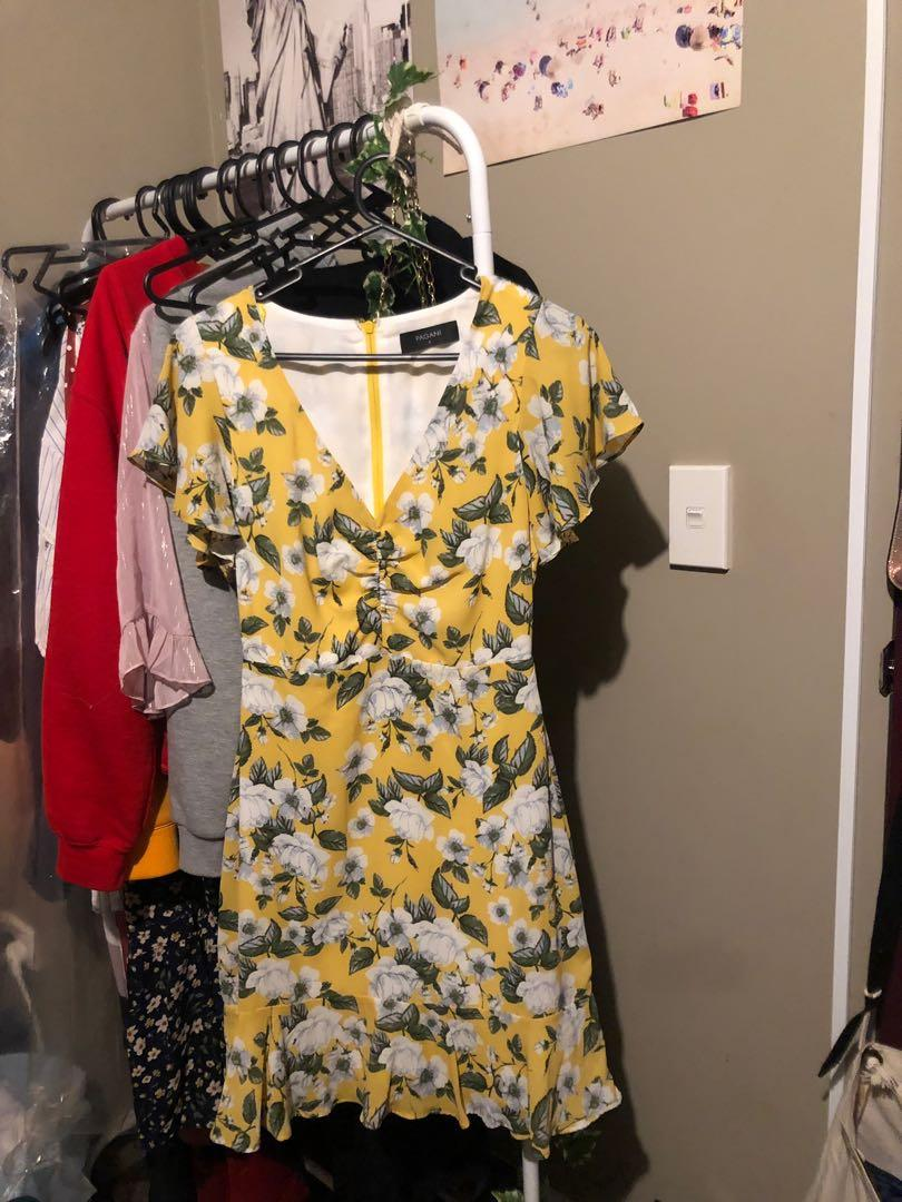 Yellow floral dress from Pagani