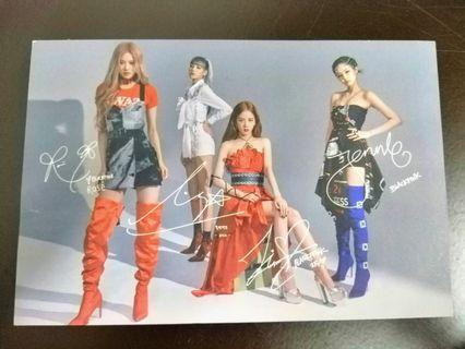 Blackpink signature postcard