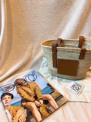(他網售出🚫)全球缺貨商品 LOEWE 草編包 中號 迎接夏天 卡其 小號 編織包 Basket bag Natral/Tan 羅威