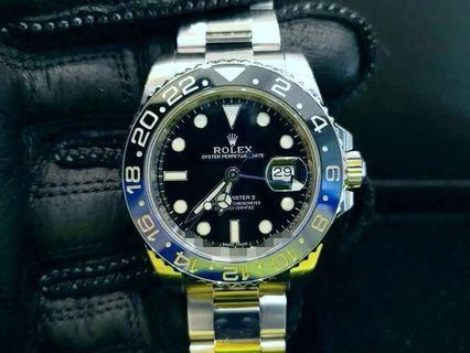 PREOWNED ROLEX GMT MASTER II,  116710 BLNR, Oystersteel, 40mm, Alphanumeric Series @ 2014 Mens Watch