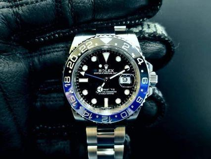 PREOWNED ROLEX GMT MASTER II,  116710 BLNR, OysterSteel, 40mm, Alphanumeric Series @ 2016 Mens Watch